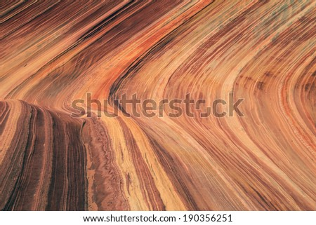 Brown sandstone texture background from the Utah desert, USA. - stock photo