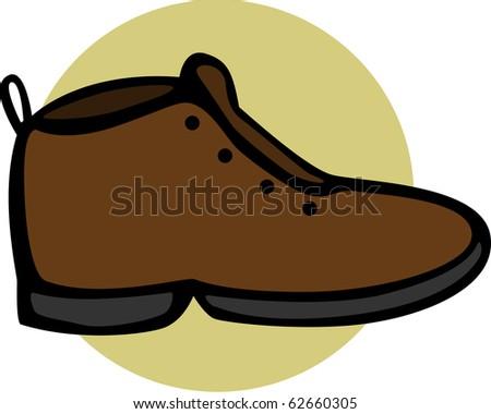 brown shoe - stock photo