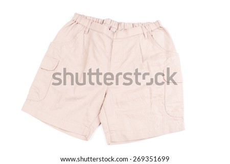 Brown short pants isolated on white