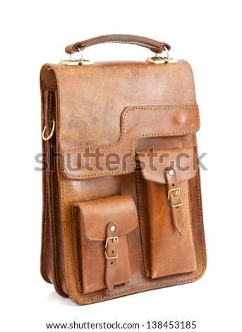 Brown Shoulder bag - stock photo