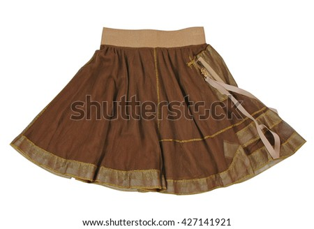 brown skirt isolated on white background