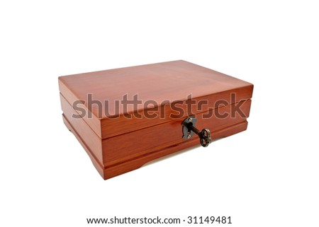 Brown small box with key