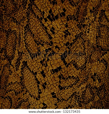 brown snake fur texture or background - stock photo