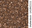Brown Soil with Small Stones.  Seamless Tileable Texture. . - stock photo