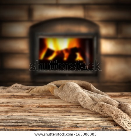 brown space and fireplace