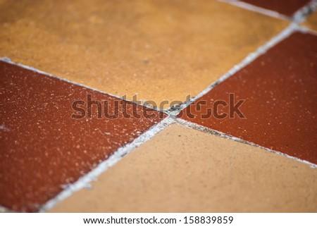 brown square tile