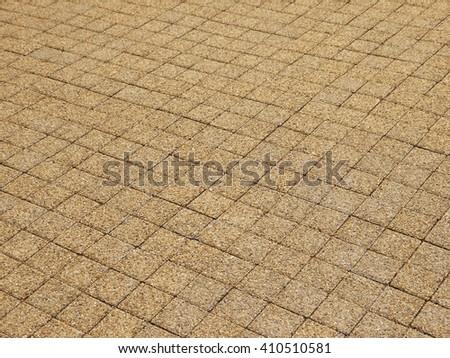 brown stone block walkway background - stock photo