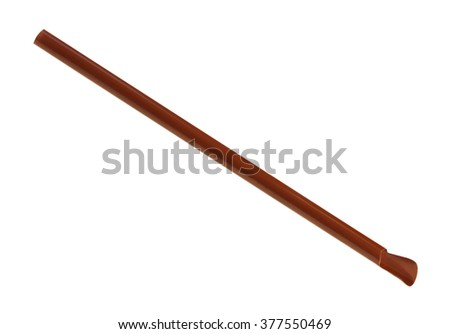 Brown straw isolated on white background