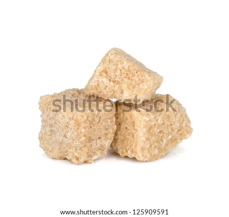 Brown sugar. Isolated on white background - stock photo