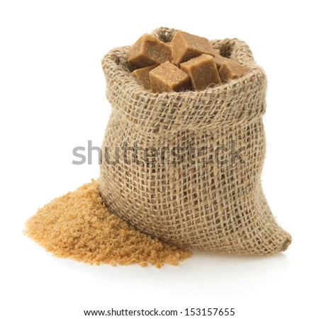 brown sugar isolated on white background