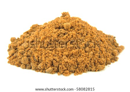 Brown Sugar Pile Isolated on White Background - stock photo