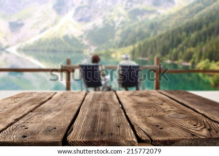 brown table and tourism  - stock photo