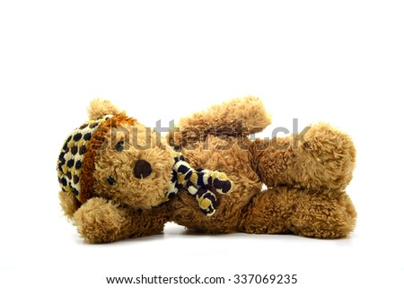 brown teddy bear isolated on white