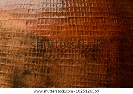 Brown texture background close up