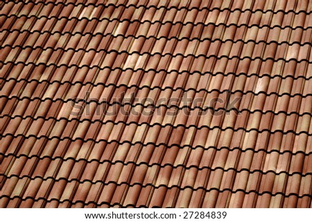 brown tile roof in house