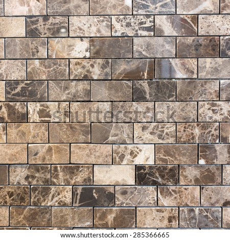 Brown tile texture and background. - stock photo