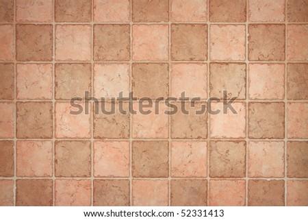 brown tiles on wall - stock photo