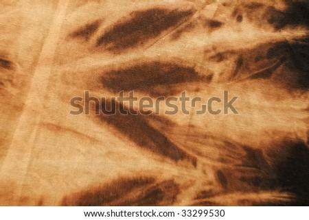 brown tye dyed cotton background - stock photo