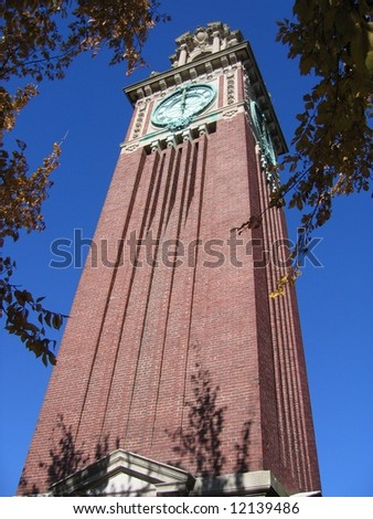 Brown University Clock Tower - stock photo