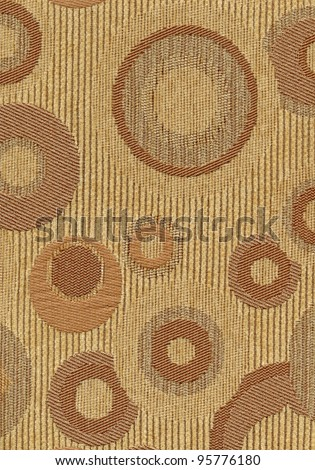 Brown upholstery texture with cycle pattern - stock photo