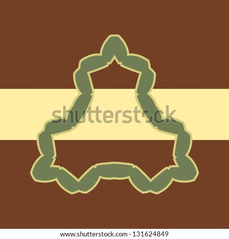 Brown Vector background and frame with sample text, for invitation or announcement - stock photo
