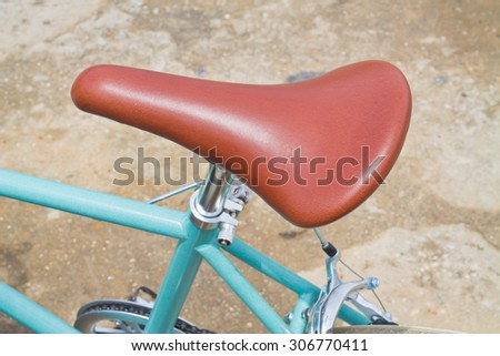 Brown Vintage bicycle seat. - stock photo
