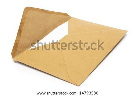Brown Vintage Envelope - stock photo