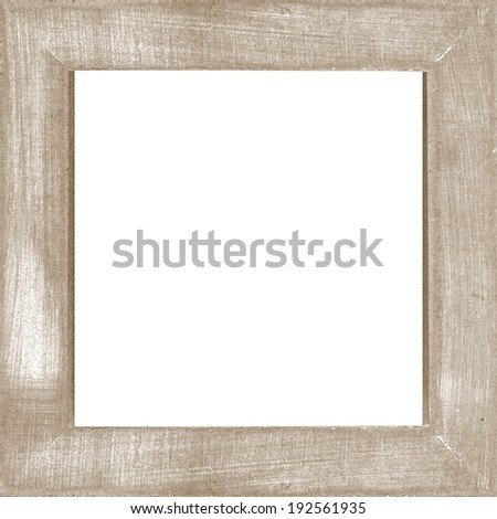 brown vintage wooden photo frame - stock photo
