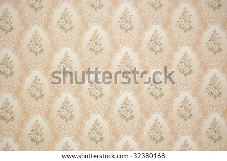 brown wallpapers are glued on on a wall