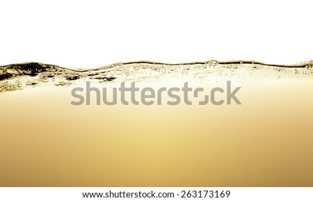 Brown water wave over white background with space for text - stock photo