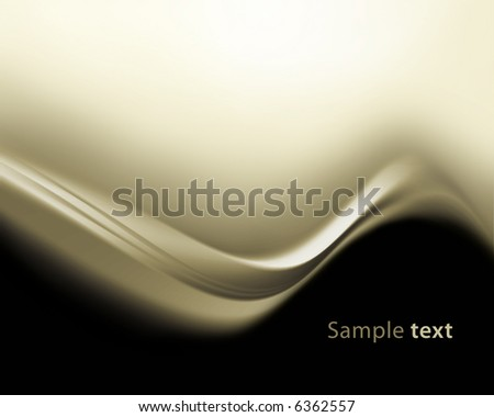 brown waves background - stock photo