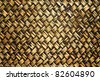 brown weave pattern from nature material use for furniture - stock photo