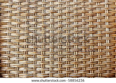 brown wicker texture as background - stock photo