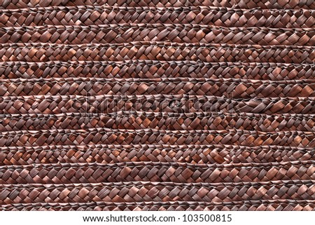 Brown wicker texture background - stock photo