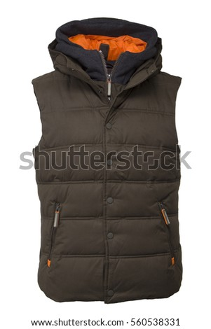 Brown winter vest
