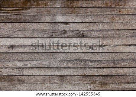 Brown wood plank wall texture background - stock photo