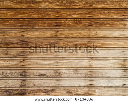 Brown wood texture from panels - stock photo