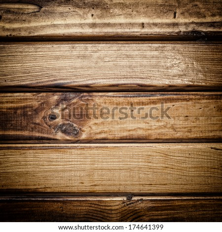 Brown wood texture with  vignette - stock photo
