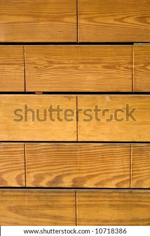 Brown wooden planks can be used as background - stock photo