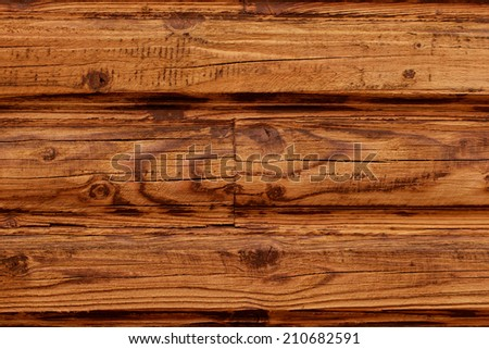 brown wooden texture of loghouse wall (pattern, background)