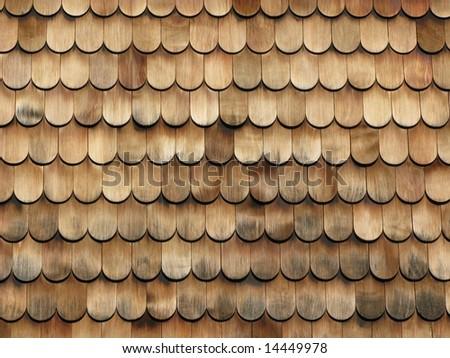 Brown wooden tiles - stock photo