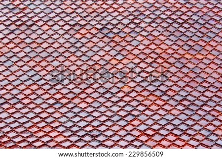 Brown wooden tiles. - stock photo