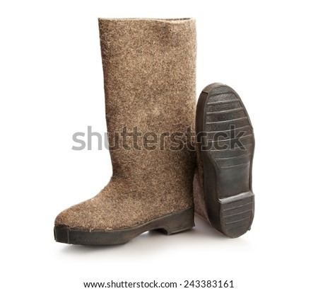 Brown working hight boots