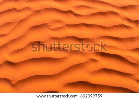 Brown-yellow-red color of the desert at sunset. Sahara. Northern Africa