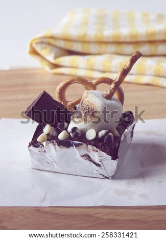 Brownie, Cookie, Vintage and Retro Style Photo - stock photo