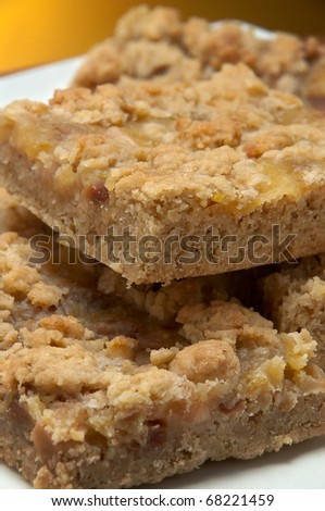 brownie with nuts - stock photo