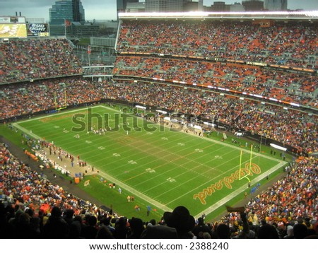Browns versus Steelers at Browns Stadium in Cleveland
