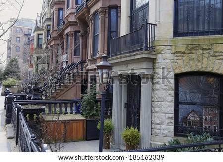 Brownstone Brooklyn Series/Park Slope facades & row houses - stock photo