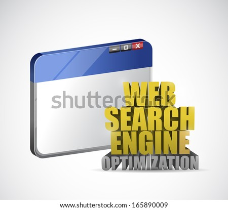 browser web search engine optimization sign illustration design over a white background - stock photo