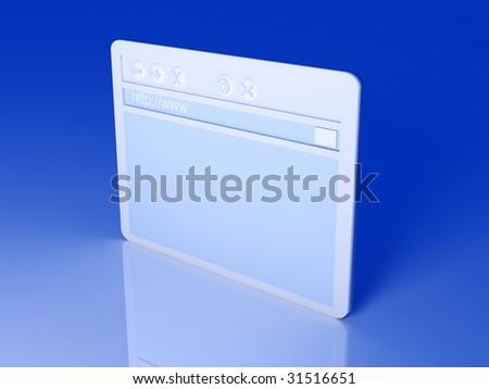 Browser Window - stock photo